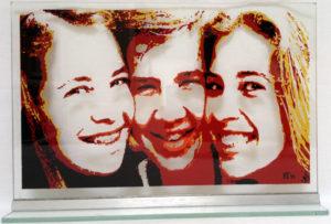 portret kinderen op glas